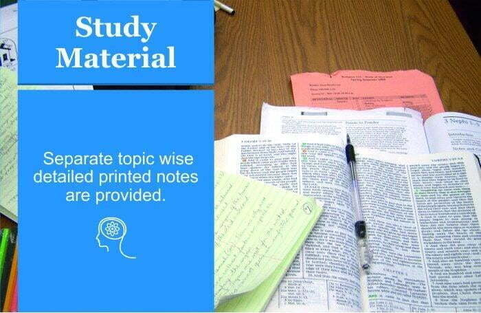 We provide detailed printed study materials