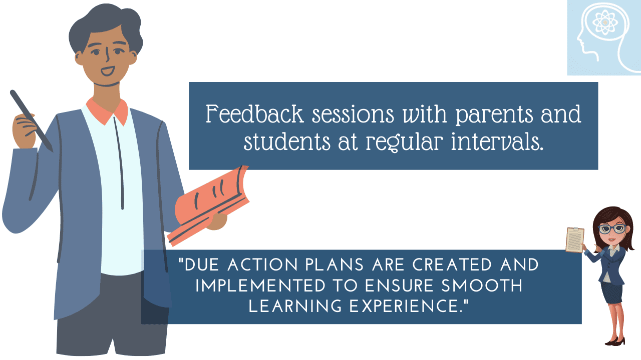 Feedback sessions with Parents and Students